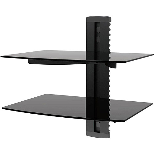 Ematic Adjustable 2 Shelf For DVD Player, Cable Box/Receiver And Gaming  Consoles With