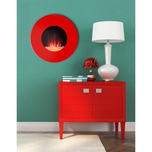 Orren Ellis Laurent Custom Designer Wall Mounted Electric Fireplace