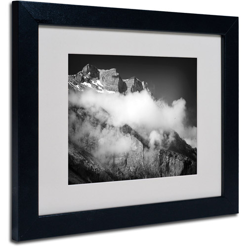 "Trademark Fine Art ""Cold Wind Blowing"" Canvas Art by Philippe Sainte-Laudy, Black Frame"
