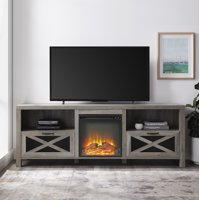 "Manor Park 70"" Rustic Farmhouse Fireplace TV Stand - Multiple Finishes"