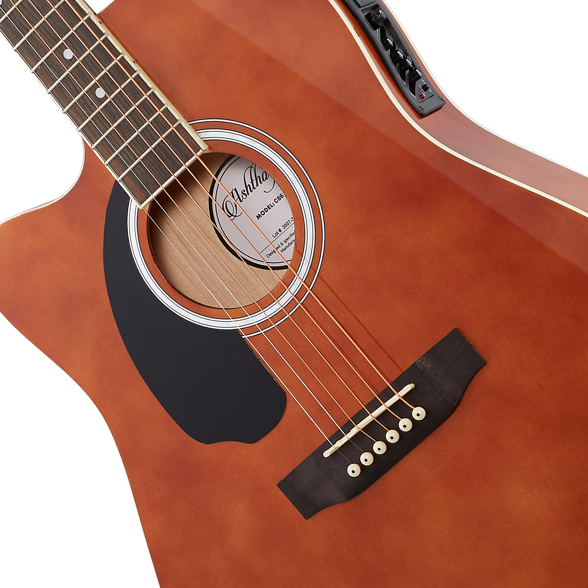 Brown Premium Tonewoods Ashthorpe Full-Size Left-Handed Cutaway Thinline Acoustic-Electric Guitar Package