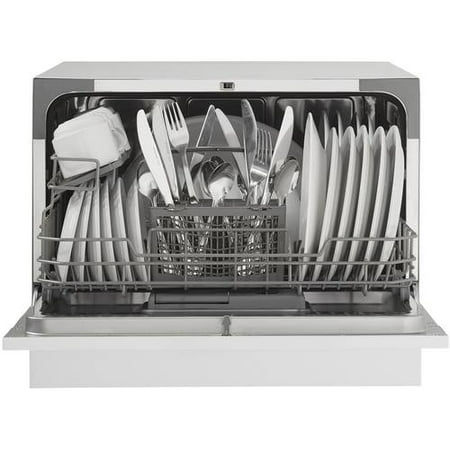 Danby Delay Start Countertop Dishwasher 6 Place Setting, White