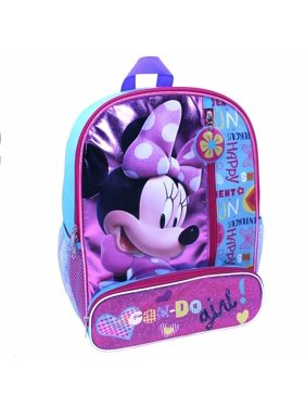 58b3f460325 Product Image Disney Bowtique Minnie Mouse 14 inch Backpack with Side Mesh  Pockets