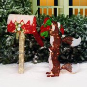 Holiday Time Glittering Mesh Squirrels and Mailbox Light Sculpture, 2-Piece Set