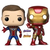 Warp Gadgets Bundle - Funko Pop Marvel Avengers Infinity War Iron Spider Unmasked and Avengers: Endgame - Iron Man Boxlunch Exclusive - Collectible Vinyl Bobble-Head Figures (2 Items)