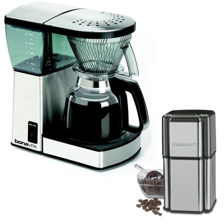 Bonavita BV1800 8-Cup Coffee Maker with Glass Carafe with Cuisinart Grind Central