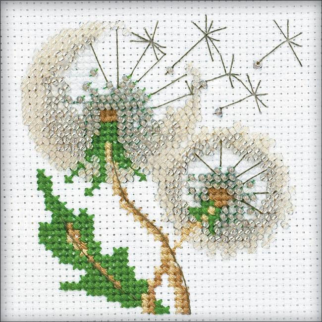 4 x 4 in. Dandelion Seeds Counted Cross Stitch Kit - 14 Count