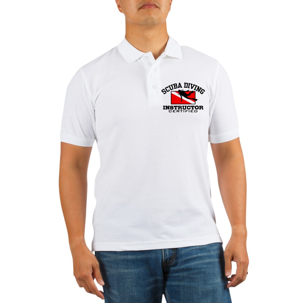 CafePress - Scuba Diving Instructor Golf Shirt - Golf Shirt, Pique Knit Golf Polo