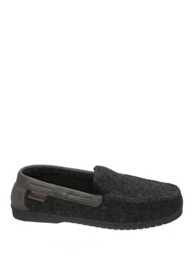 fdc5a7ec480a Product Image Dearfoams Men s Mixed Material Moccasin Slippers - Wide Width
