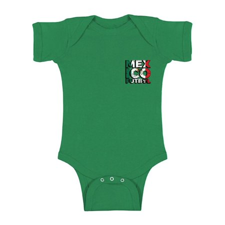 Awkward Styles Mexico Futbol Baby Bodysuit Short Sleeve Mexican Soccer Bodysuit for baby Mexico One Piece Top Mexico Soccer 2018 Baby Bodysuit Gifts from Mexico Mexican Flag One Piece Top