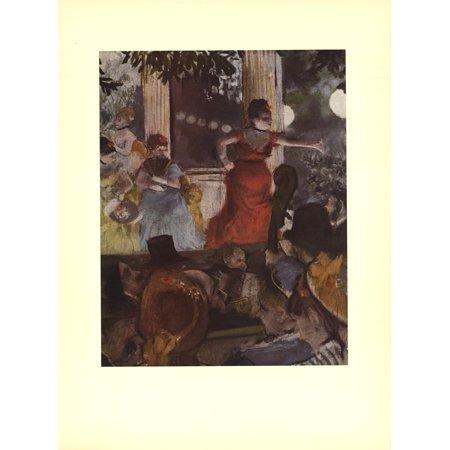 (Edgar Degas-Cafe Concert: At Les Ambassadeurs-Poster)