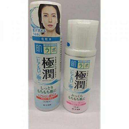 Hada Labo Gokujyun Super Hyaluronic Acid Hydrating Lotion (5.7fl/170ml) & Milk (4.7fl/140ml) (Hada Labo Super Hyaluronic Acid Moisturizing Lotion)