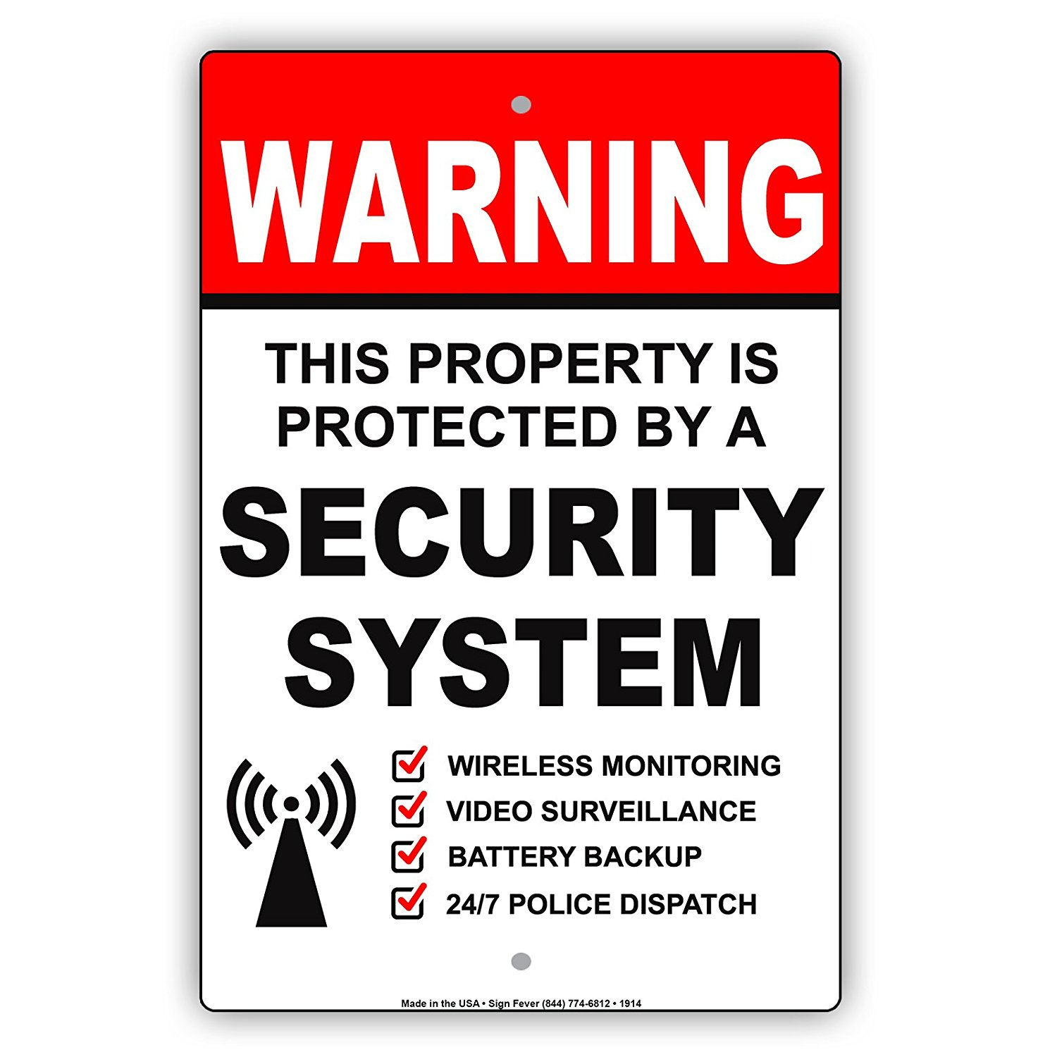 3 x  Warning This Property Is Under 24 Hour Video Surveillance Sign security 3pc