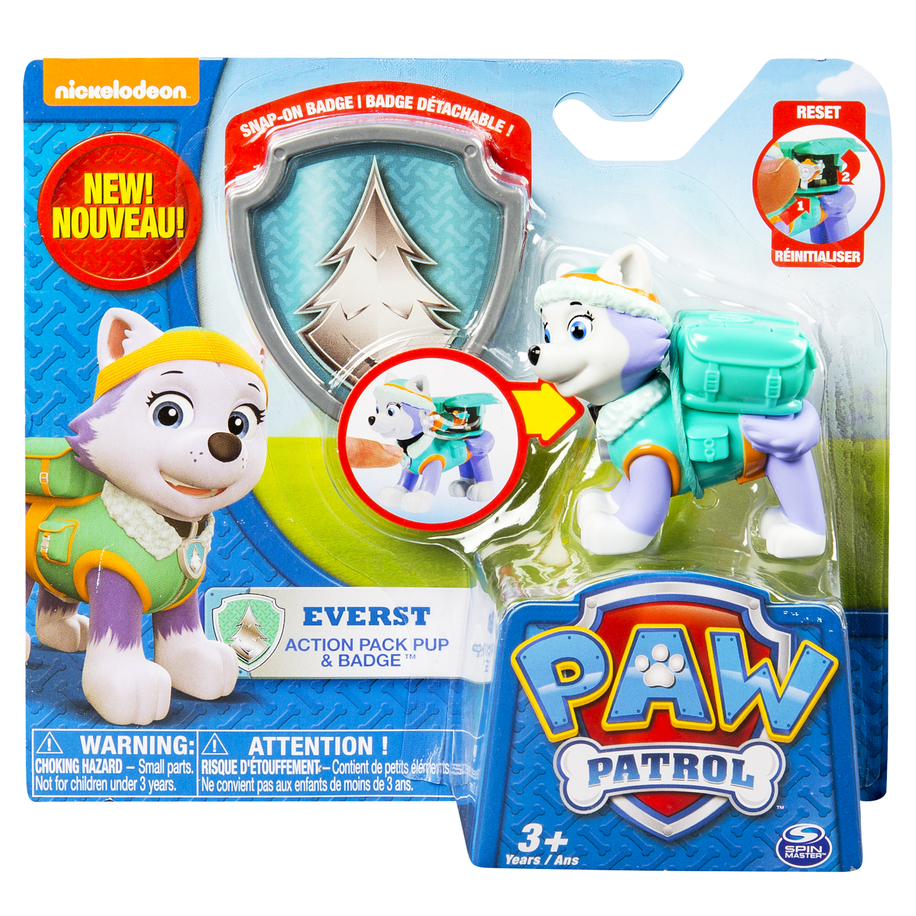 Paw patrol action pack pup amp badge everest walmart com