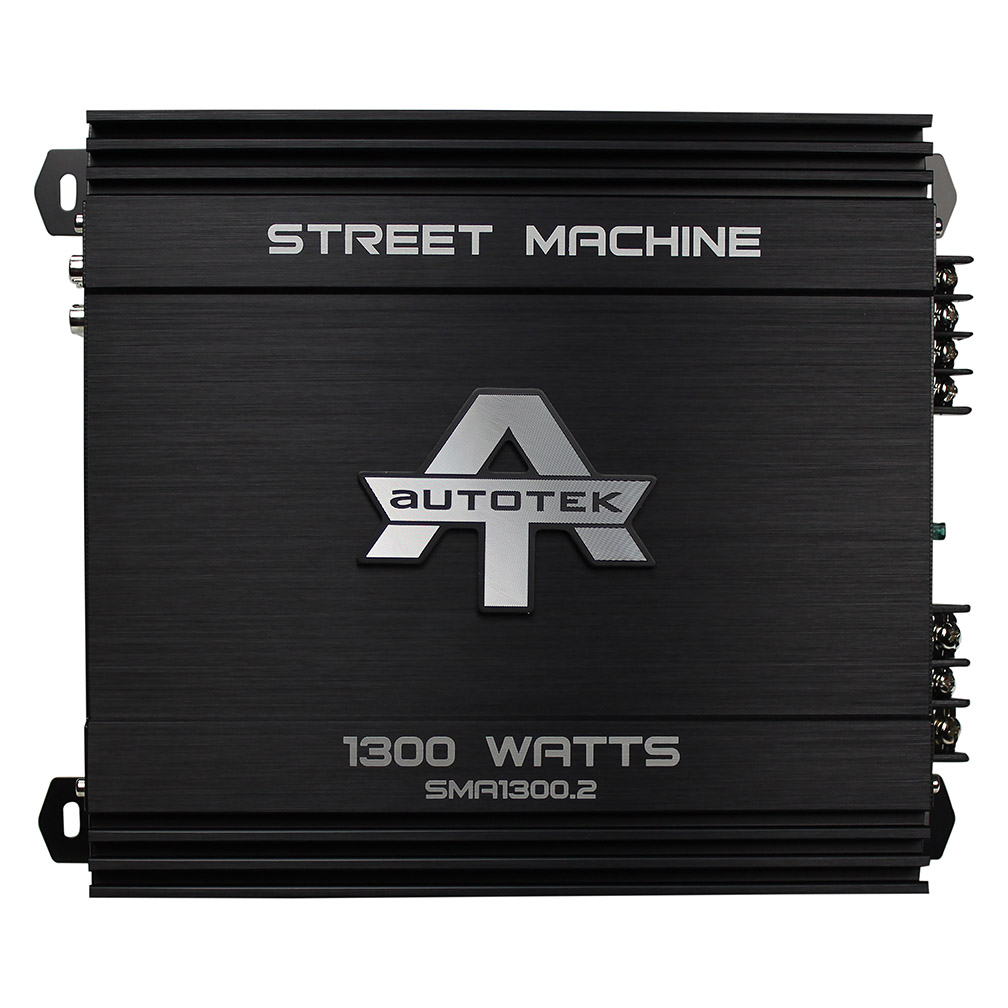 Autotek SMA1300.2 Street Machine 2-Channel Class AB Amp, 1,300 Watts