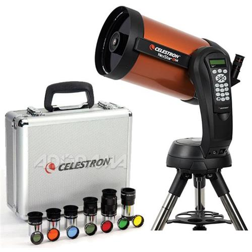 "Celestron NexStar 8 SE Schmidt-Cassegrain Computerized Telescope - with Deluxe Accessory Kit (5 Celestron Plossl Eyepieces, 1.25"" Barlow Lens, 1.25"" F"
