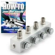 PointZero Airbrush Manifold Air Hose Splitter 1/8 in. BSP Taps