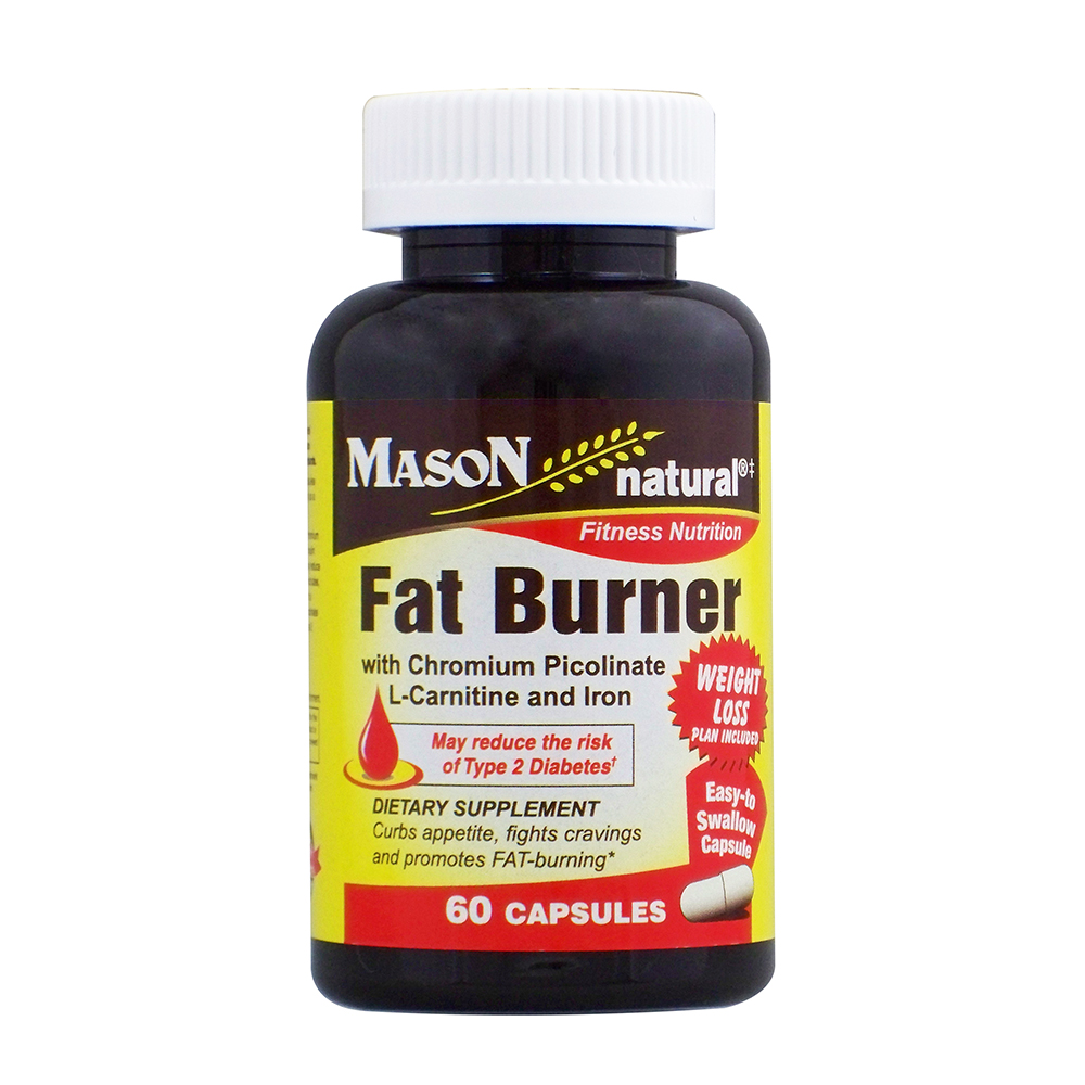 3X Triple Action Burner mason vitamins fat burner with chromium picolinate, l-canitine, and iron  ctules, 60 ct - walmart
