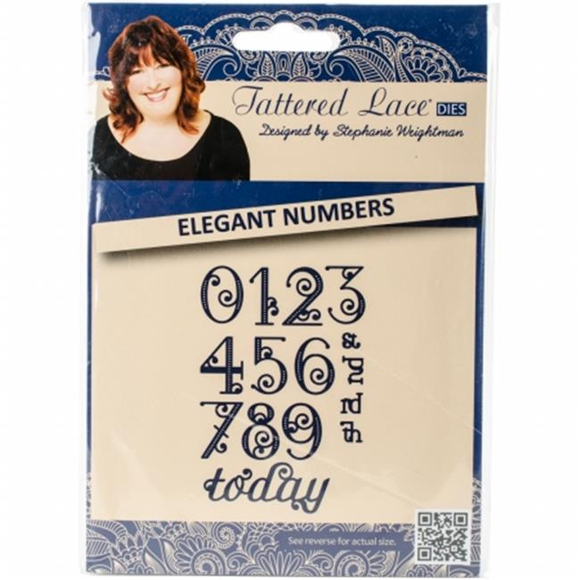 141516 Tattered Lace Metal Die, Elegant Numbers