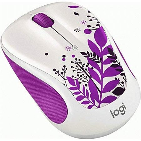 Refurbished Logitech M325C Wireless Mouse For Web Scrolling Purple Peace ()