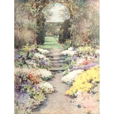 Scottish Gardens 1908 Baberton Poster Print by  Mary GW Wilson