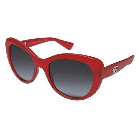 New Dolce Gabbana 6090 Womens/Ladies Cat Eye Full-Rim Gradient Red European Glamorous Gradient Lenses Hip Cat Eye Frame Gradient Gray Lenses 54-19-140 Sunglasses/Sun Glasses