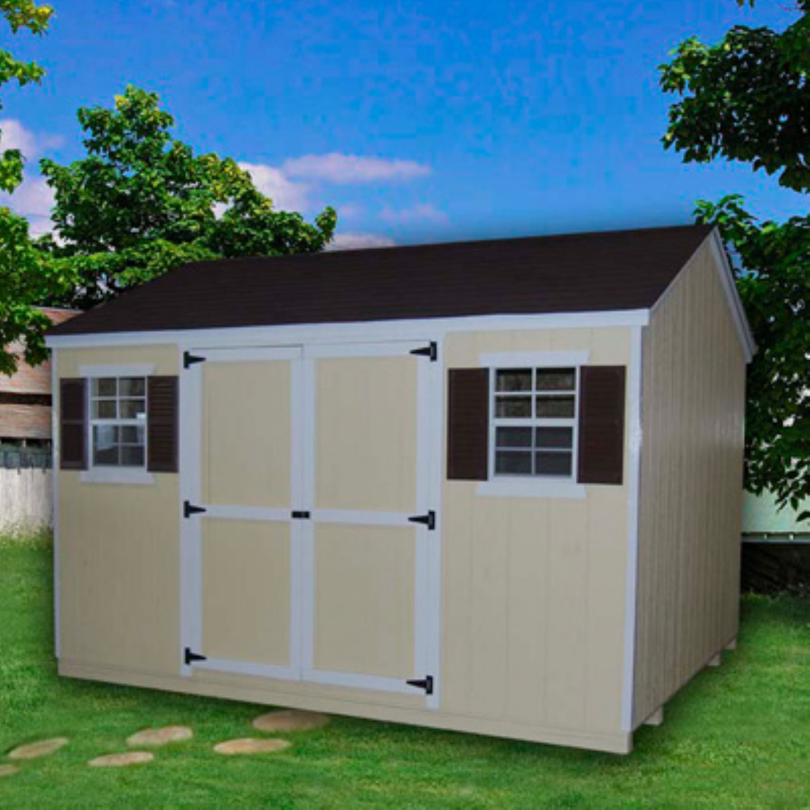 Little Cottage 12 x 8 ft. Value Workshop Precut Garden Shed