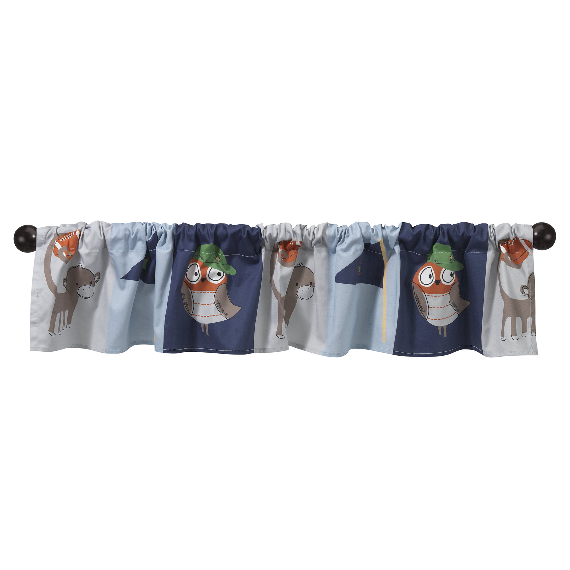 BedTime Originals Baby League Sports Animals Window Valance