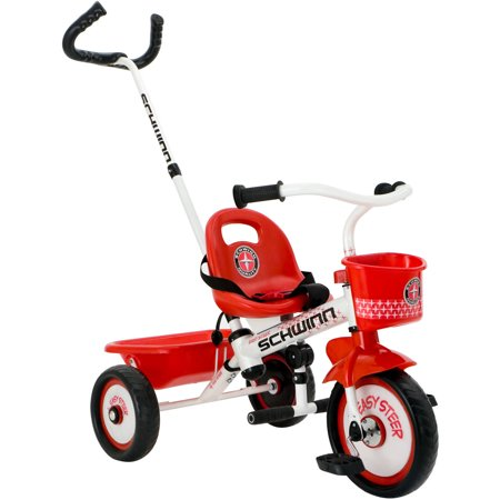 Schwinn Easy-Steer Tricycle with Parent Assist Handle, Red (Easy Trifle)