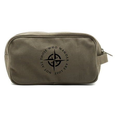 LOTR Not All Those Who Wander Are Lost Shower Dopp Kit Travel Toiletry Bag