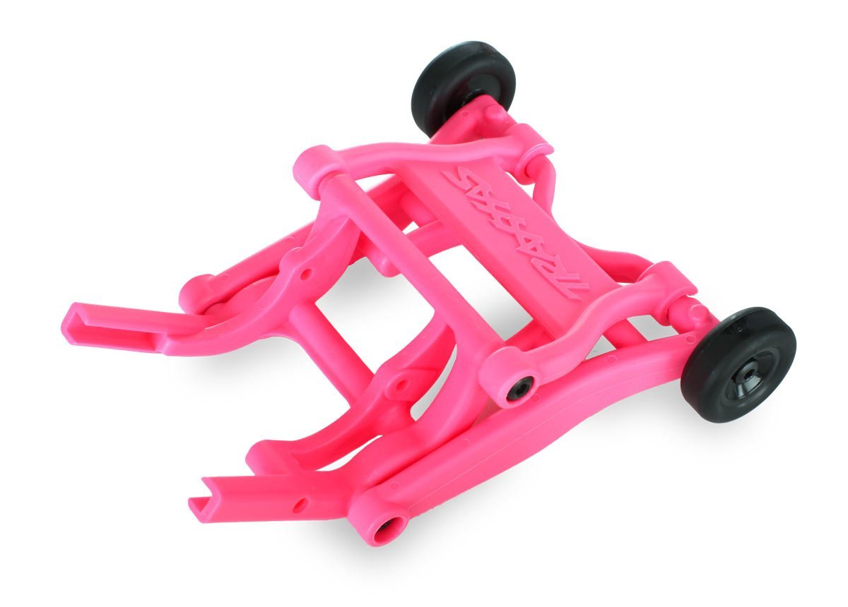 3678P Wheelie Bar Assembly for 2WD Electric Vehicles, Pink, Assembled wheelie bar features... by