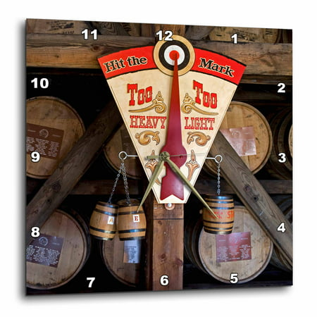 3dRose Kentucky, Makers Mark Bourbon in wood distillery - US18 LNO0001 - Luc Novovitch, Wall Clock, 15 by 15-inch