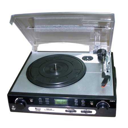 USB Turntable with direct-to- USB/SD Card Encoder & Built-in AM/FM Radio Conversion