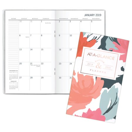 at a glance badge 2 year monthly pocket planner 2019 yearly