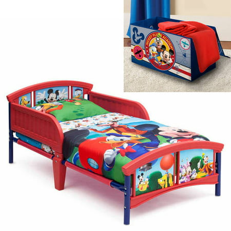 Helen Of Troy Bed (Disney Mickey Mouse Toddler Bed with  BONUS Collapsible Toy Box )
