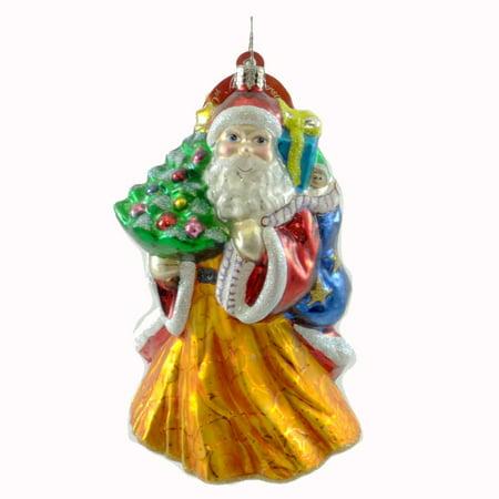 Christopher Radko GRAND ENTRANCE Blown Glass Ornament Christmas Santa