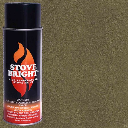 Stove Bright High Temp Paint - Honeyglo Brown Green Stove Bright Paint