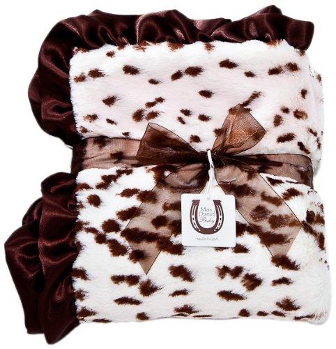 Max Daniel Baby Throw Blanket, Pink Snow Leopard
