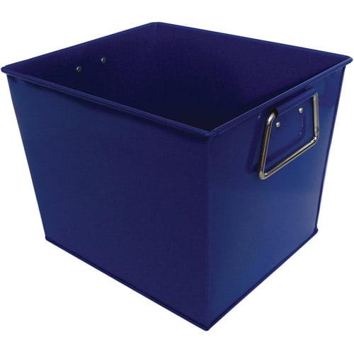 Neu Home Square Metal Bucket, Blue