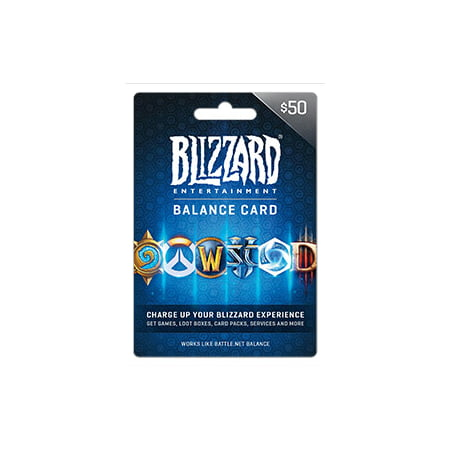 Battle.net Balance Store Gift Card $50, Blizzard Entertainment [Digital Download] (Battle Net Balance)