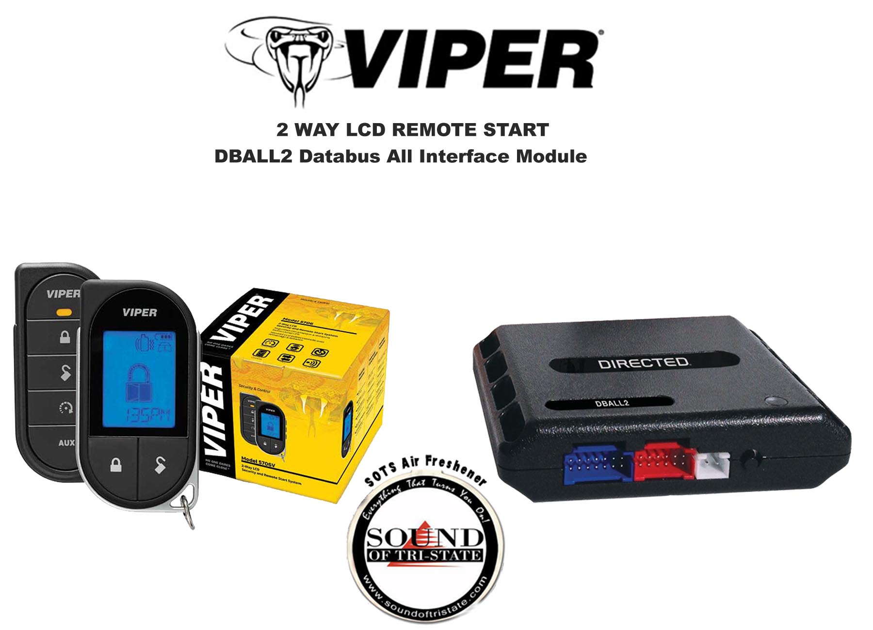 Refurbished Viper 5706V 2 Way LCD Remote Starter Car Alarm w  DBALL2 Bypass Interface by Viper