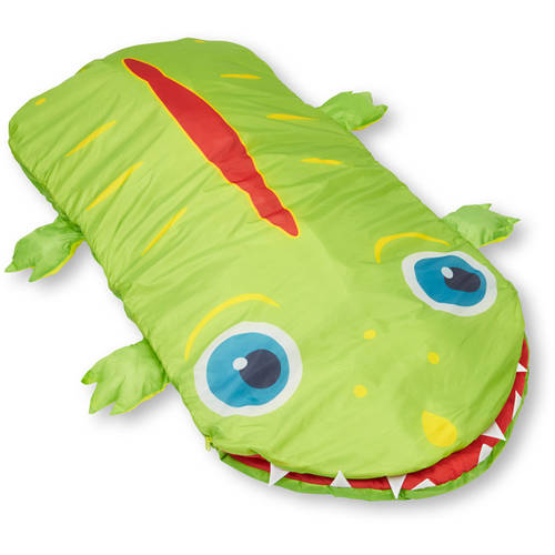Melissa & Doug Sunny Patch Augie Alligator Sleeping Bag, 6' long by Generic