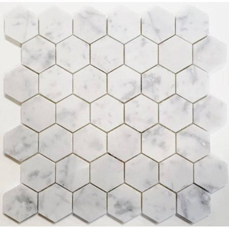 White Carrara Marble Hexagon Tiles Flooring Compare Prices At Nextag - 2 carrara marble hexagon floors