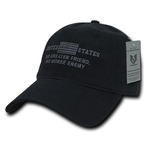 Rapid Dominance United States of America No Greater Friend Enemy US Flag Baseball Dad Caps Hats Cotton Polo
