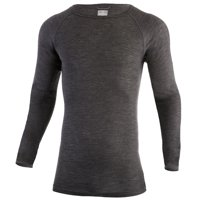 MERIWOOL Merino Wool Men's Lightweight Form Fit Baselayer Crew Pullover Top - Large