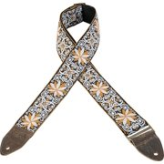 Levy's Guitar Strap, M8HTV-13, 2 Jacquard Weave with Vintage Hootenanny Design