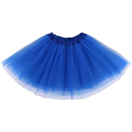 Ballerina Costumes For Adults (Simplicity Womens Ballerina Tutu Adult Halloween Costume Accessory,Royal)