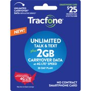Tracfone $25 Smartphone Unlimited 30-Day Plan e-PIN Top Up (Email Delivery)