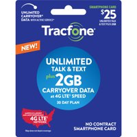 Tracfone $25 Unlimited Talk & Text plus 2 GB Plan (Email Delivery)