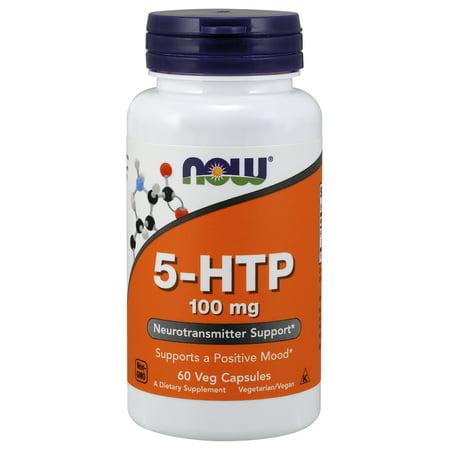 NOW Supplements, 5-HTP 100 mg, 60 Veg Capsules (Best Price 5 Htp)